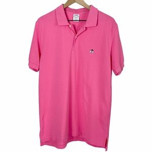 Brooks Brothers Performance Polo Slim Fit Pink - L